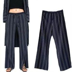 Zara Striped Palazzo Trousers split leg size small
